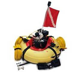 Hookah System float with dive flag