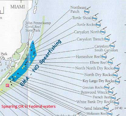 Key Largo Existing Management Area map