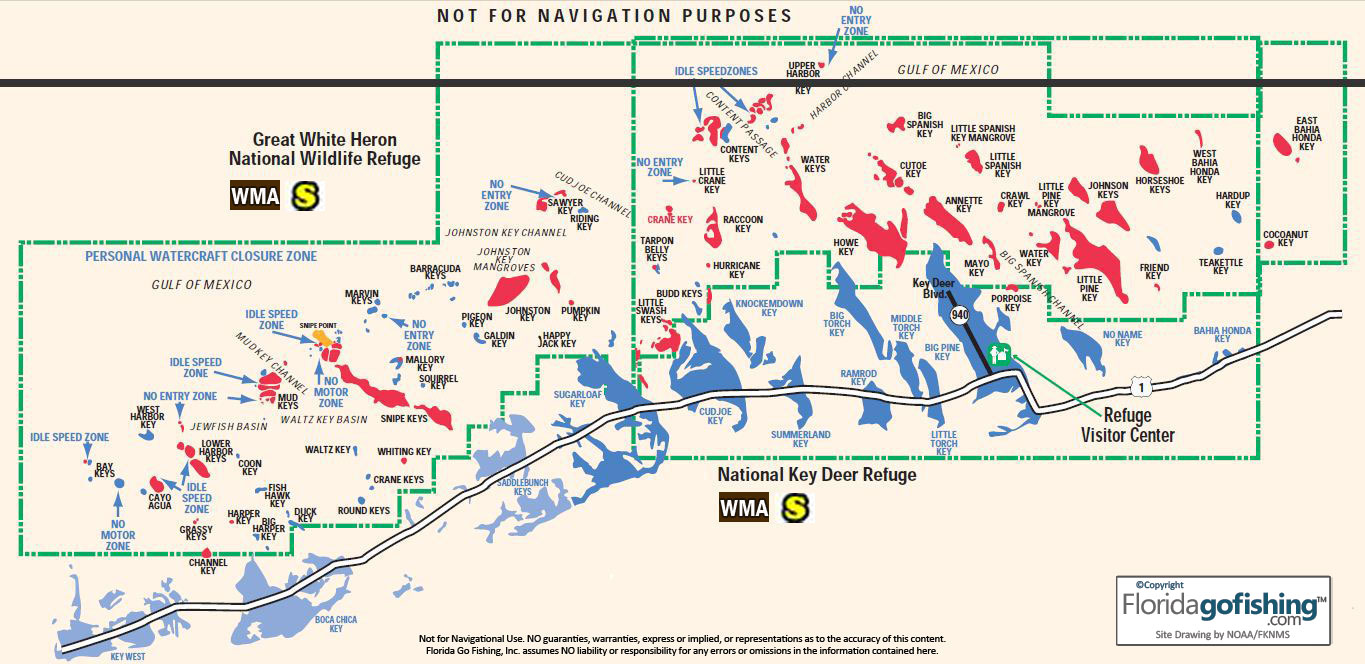 The keys parks and preserves florida go fishing chart of the islands in the great white heron national wildlife refuge key nvjuhfo Image collections