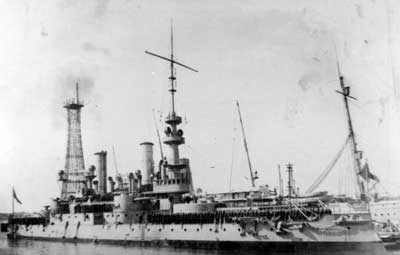 USS Massachusetts historical photo on the water in 1919