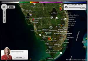 Weather radar map southwest florida